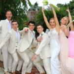 happy wedding group