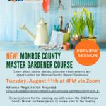 Master Gardener preview session flyer